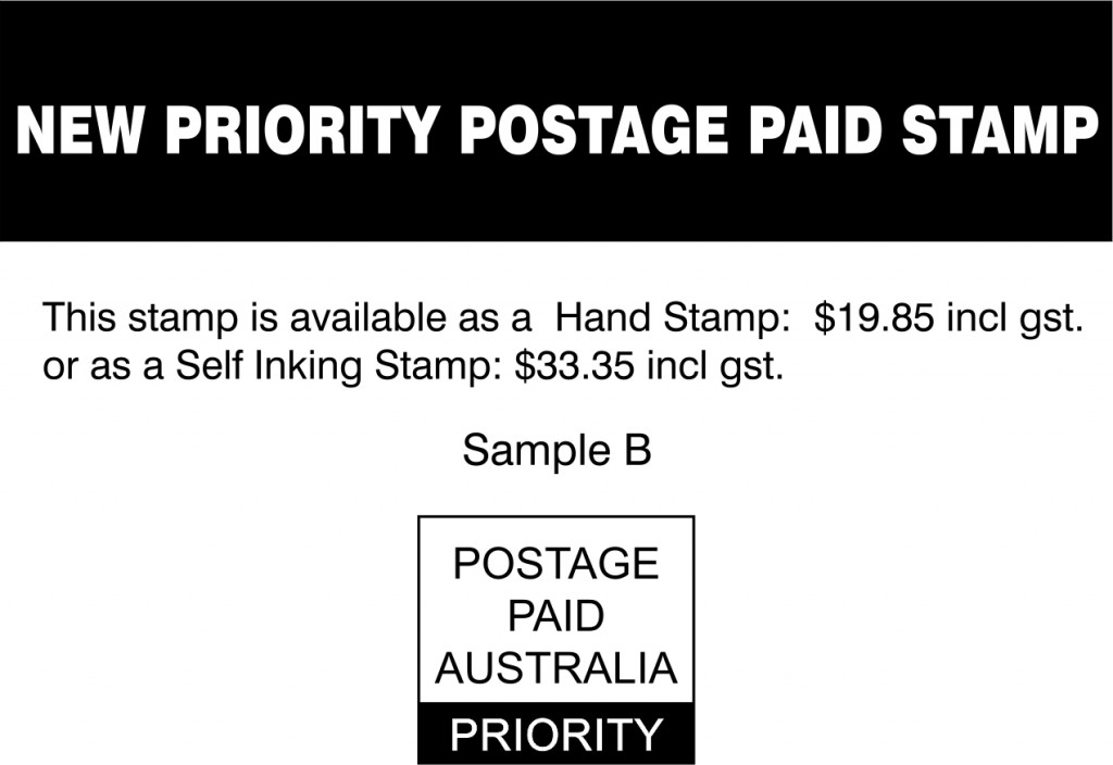 new priority postage paid stamp