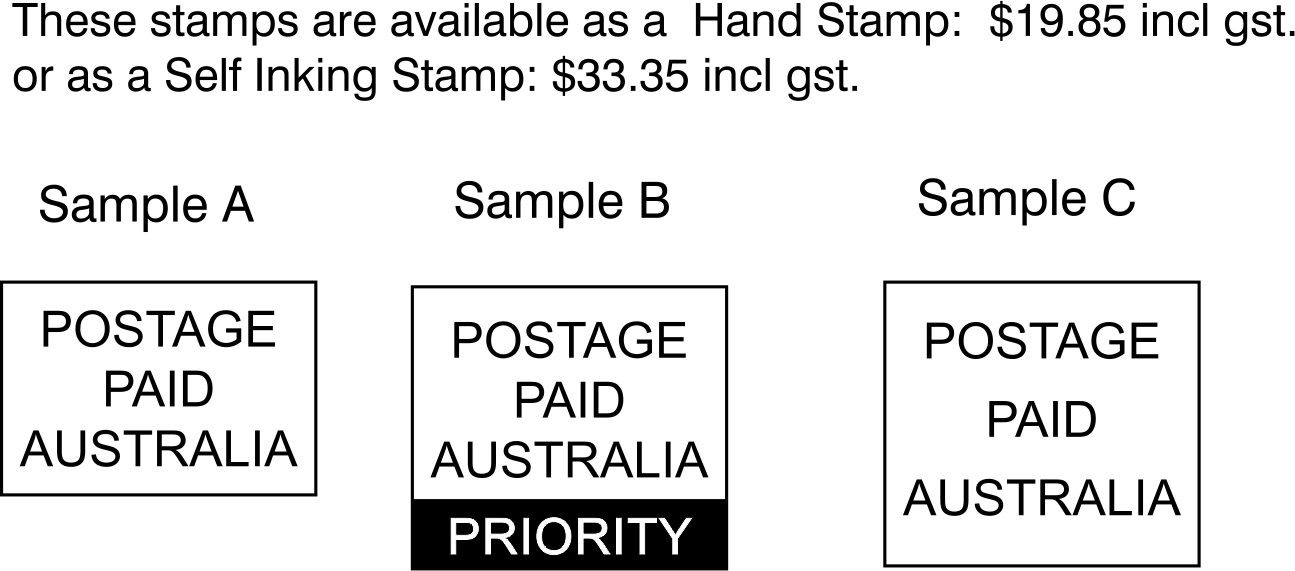 paid stamp sample