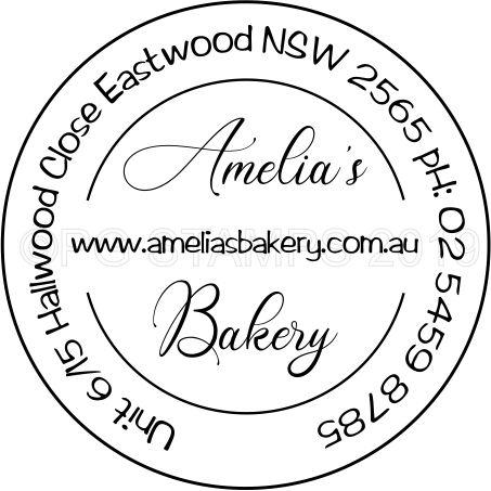 Decorative Circular Business name and address