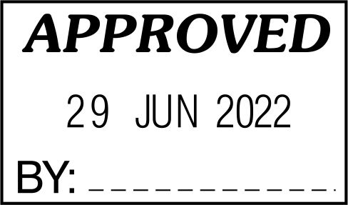 STOCK APPROVED DATE STAMP