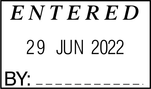 STOCK ENTERED DATE STAMP