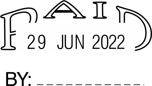 STOCK PAID DATE STAMP