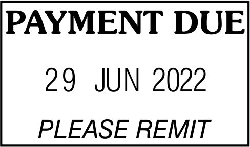 STOCK PAYMENT DUE DATE STAMP
